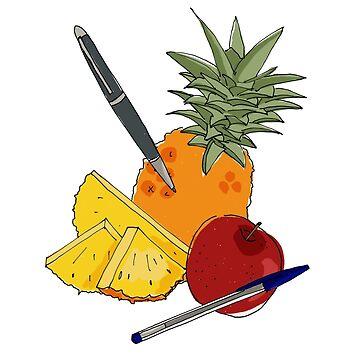 Pen Pineapple Apple  by Penny-Farthing