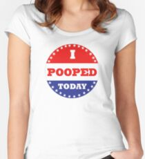 Voting Stickers - I Pooped Today Women's Fitted Scoop T-Shirt