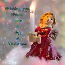 Angelic Christmas Greeting by Celeste Mookherjee