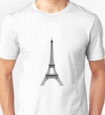 Grey Eiffel Tower T-Shirt