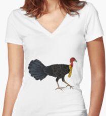 Australian Brush Turkey Women's Fitted V-Neck T-Shirt