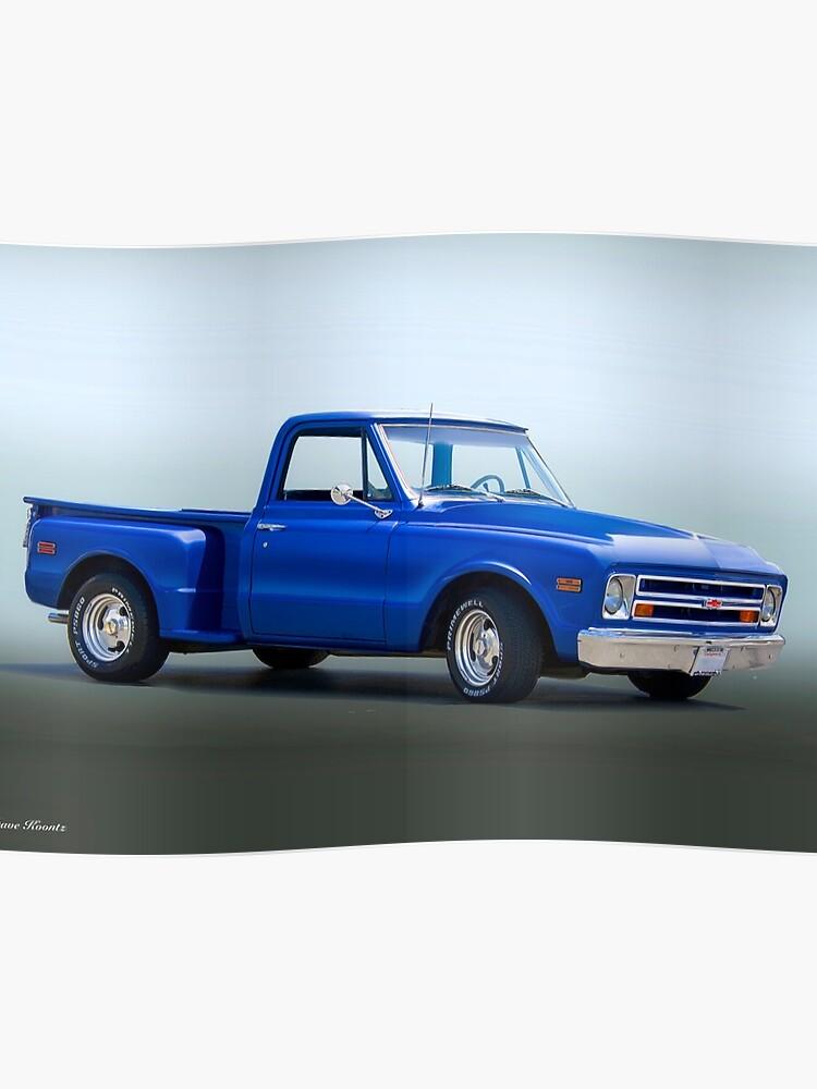 1968 Chevrolet C10 Stepside Pickup Truck Poster By Davekoontz
