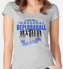 President Trump 2017 Inaugural DeploraBall Celebration Women's Fitted Scoop T-Shirt