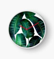 Cosmic Banana Leaves #redbubble #lifestyle Clock