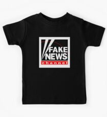 News Shirt from the Fake News Network Funny And Sarcastic T-Shirt Kids Tee