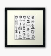Doctor Who Collective Illustration Framed Print