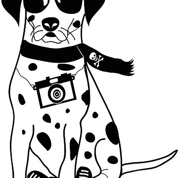 Hipster Dalmatian - Cute Dog Cartoon Character by designedbyn