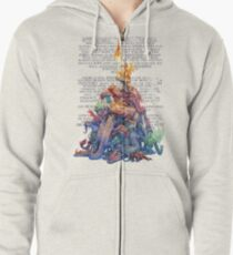 Answer to the question Dragons Zipped Hoodie