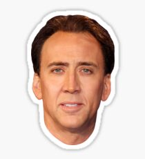 Nicolas Cage's Head - Sticker Sticker
