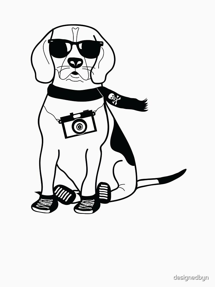 """Hipster Beagle - Cute Dog Cartoon Character"" T-shirt by ..."