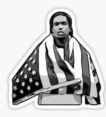 ASAP A$AP ROCKY American Flag A4ap Sticker