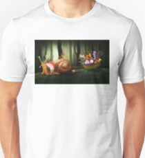 Queen Elizabeth Snail of the forest.  Unisex T-Shirt