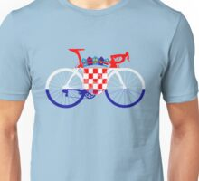 Bike Flag Croatia (Big) Unisex T-Shirt