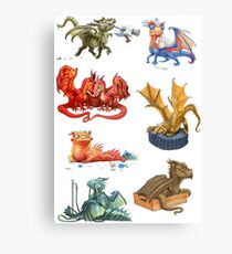 Dragons Collage Canvas Print