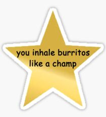 Pegatina inhalas burritos como un campeón