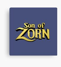 Son of Zorn Fan Art Print Design on Bitter Blue Canvas Print