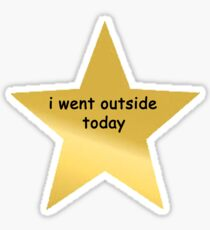 i went outside today Sticker