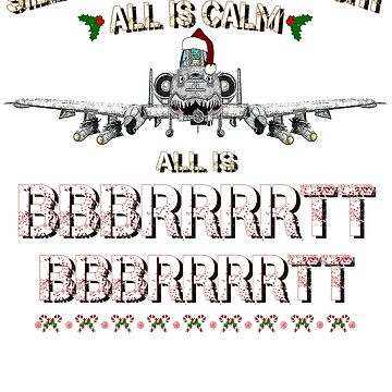 A-10 WARTHOG - Silent Night Christmas T shirt by GUS3141592