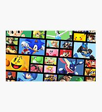 Super Smash Bros. For Nintendo 3DS/ Wii U Poster Brick Pattern Photographic Print