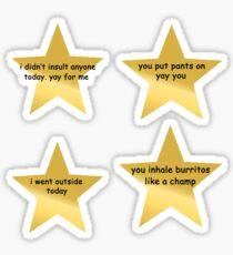 Motiv Stern Aufkleber Set Sticker
