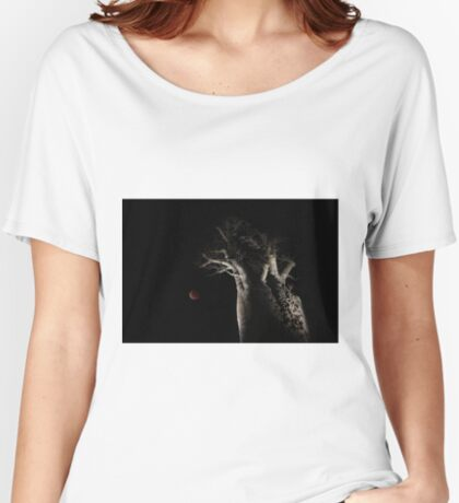 The Blood Moon And The Boab Tree Women's Relaxed Fit T-Shirt