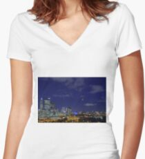 Lunar Eclipse - Perth Western Australia  Women's Fitted V-Neck T-Shirt