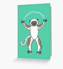 Lemur of Congratulations  Greeting Card
