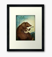Mandolin Bear Framed Print