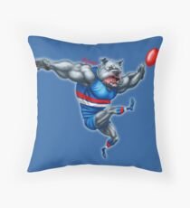 The Champion Bulldog By Grange Wallis Throw Pillow