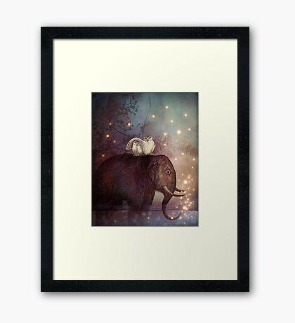 Riding through the Night Framed Print