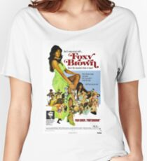 Foxy Brown (Blue) Women's Relaxed Fit T-Shirt