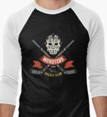 Hockey logo, mascot Men's Baseball ¾ T-Shirt