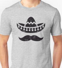 Sombrero Hat Mustache Funny Unisex T-Shirt