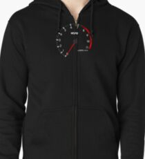 NISSAN スカイライン (NISSAN Skyline) R32 NISMO rev counter [black version] Hoodie mit Reißverschluss
