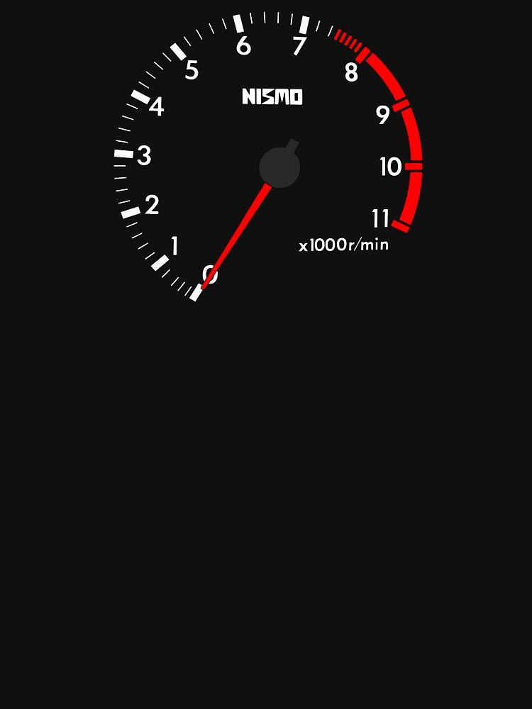 NISSAN スカイライン (NISSAN Skyline) R32 NISMO rev counter [black version] von officialgtrch