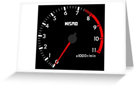 NISSAN N カ イ イ ン (NISSAN Skyline) R32 NISMO rev counter [black version] by officialgtrch