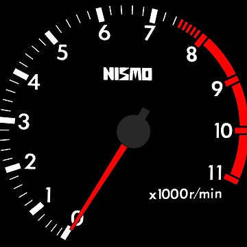 NISSAN スカイライン (NISSAN Skyline) R32 NISMO rev counter [black version] von officialgtrch