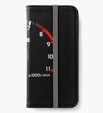 NISSAN N カ イ イ ン (NISSAN Skyline) R32 NISMO rev counter [black version] iPhone Wallet/Case/Skin