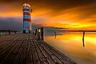 Magic sunset in Podersdorf by Delfino