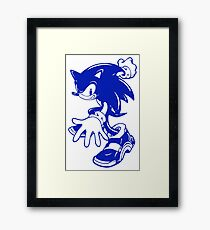 Sonic the Hedgehog [Blue] Framed Print