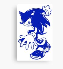 Sonic the Hedgehog [Blue] Canvas Print