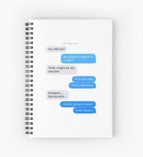 Text Conversation: McDonalds Spiral Notebook