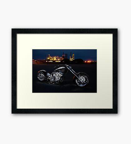 Harley-Davidson Custom Chopper Framed Print