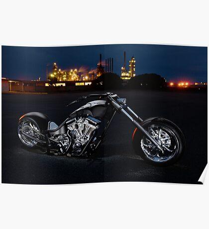 Harley-Davidson Custom Chopper Poster
