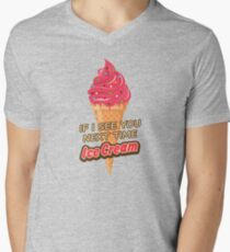 Next Time Ice Cream Punny Strawberry Ice Cream T Shirt Mens V-Neck T-Shirt