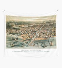 Chicago-Illinois-1872 Wall Tapestry
