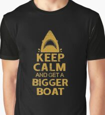 Keep Calm And Get A Bigger Boat Jaws Graphic T-Shirt