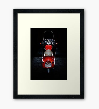 Royal Enfield Crusader Airflow Earls Court Show Model Framed Print