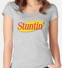 Stuntin' x Seinfeld Women's Fitted Scoop T-Shirt