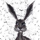 DARK HARE h2179 by Hares & Critters